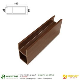 Thanh lam gỗ nhựa phủ phim Việt Pháp Gplast TL03F001 | 100x40mm copy