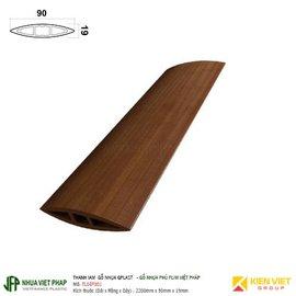 Thanh lam gỗ nhựa phủ phim Việt Pháp Gplast TL04F001 | 90x19mm