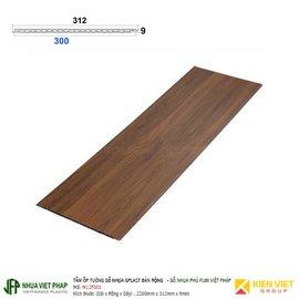 Tấm ốp tường gỗ nhựa Gplast bản rộng phủ phim Việt Pháp Gplast W12F001 | 312x9mm