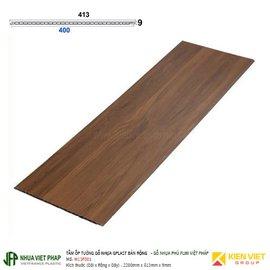 Tấm ốp tường gỗ nhựa Gplast bản rộng phủ phim Việt Pháp Gplast W13F001 | 413x9mm