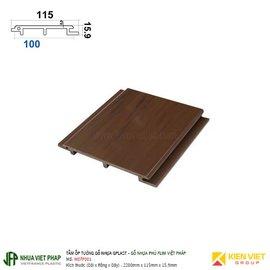Tấm ốp trần tường gỗ nhựa loại sóng phủ phim Việt Pháp Gplast W07F001 | 115x15.9mm