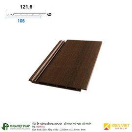 Tấm ốp trần tường gỗ nhựa loại sóng phủ phim Việt Pháp Gplast W09F001 | 121.6x9mm