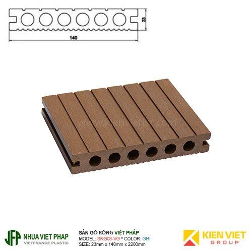 Sàn gỗ rỗng ngoài trời Việt Pháp SRG03-VG 6 lỗ   23x140mm
