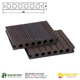 Sàn gỗ rỗng ngoài trời Việt Pháp SGR03-GI 6 lỗ | 23x140mm