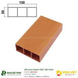 Gỗ nhựa Việt Pháp WPVC Ecoplast H01A3.0 | Teak 50x150mm