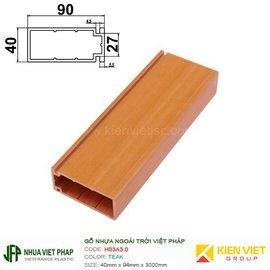 Gỗ nhựa Việt Pháp WPVC Ecoplast H03A3.0 | Teak 40x90mm