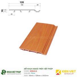 Gỗ nhựa Việt Pháp WPVC Ecoplast W05A3.0 | Teak 10x120mm