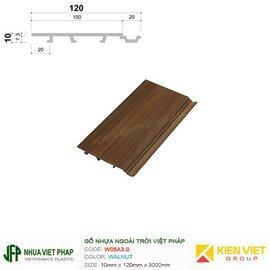 Gỗ nhựa Việt Pháp WPVC Ecoplast W05B3.0 | Walnut 10x120mm