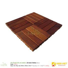 Sàn gỗ ngoài trời LAVIE BAMBOO MERBAU 300F4 sàn dạng vỉ