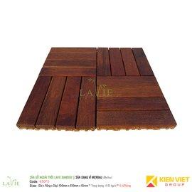 Sàn gỗ ngoài trời LAVIE BAMBOO MERBAU 450F5 sàn dạng vỉ