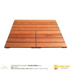 Sàn gỗ ngoài trời LAVIE BAMBOO MERBAU 900F5 sàn dạng vỉ