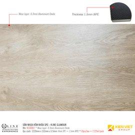 Sàn nhựa hèm khóa SPC - Vline Glamour VLS4007 | 5.5mm