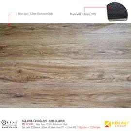 Sàn nhựa hèm khóa SPC - Vline Glamour VLS4008 | 5.5mm
