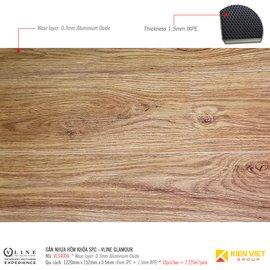 Sàn nhựa hèm khóa SPC - Vline Glamour VLS4009 | 5.5mm