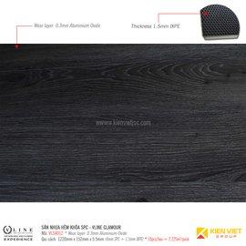 Sàn nhựa hèm khóa SPC - Vline Glamour VLS4012 | 5.5mm