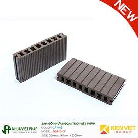 Sàn gỗ nhựa ngoài trời Việt Pháp SGR05-CF | 25x145mm