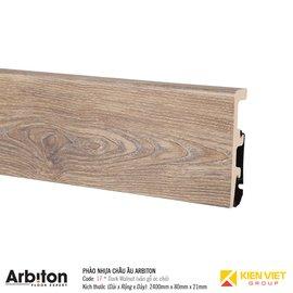 Len phào tường nhựa Châu âu Arbiton 17 Dark Walnut