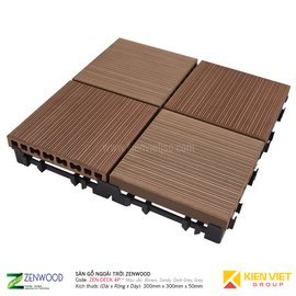 Sàn gỗ ngoà trời Zenwood ZEN-DECK 4P | 300X300mm