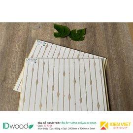 Tấm ốp tường PVC phẳng vân gỗ ID Wood ID 7104