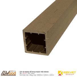 Cột gỗ nhựa ngoài trời Awood AP120x120mm Wood