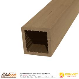 Cột gỗ nhựa ngoài trời Awood AP140x140mm Wood