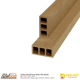 Thanh lam gỗ nhựa ngoài trời Awood AR90x40m Wood