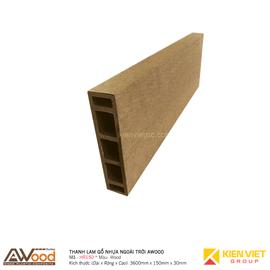 Thanh lam gỗ nhựa ngoài trời Awood HR150x35m Wood