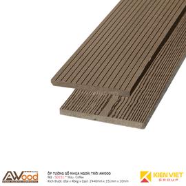 Ốp tường gỗ nhựa ngoài trời Awood SD151x10mm Coffee