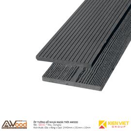 Ốp tường gỗ nhựa ngoài trời Awood SD151x10mm Darkgrey