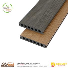Sàn gỗ nhựa ngoài trời Awood UA142x22mm Red Sandalwood