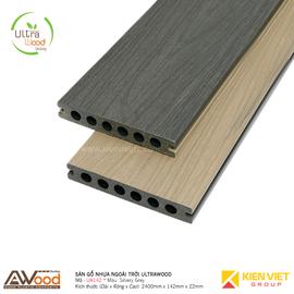 Sàn gỗ nhựa ngoài trời Awood UA142x22mm Silvery Grey