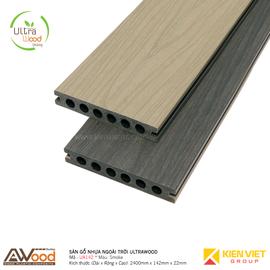 Sàn gỗ nhựa ngoài trời Awood UA142x22mm Smoke