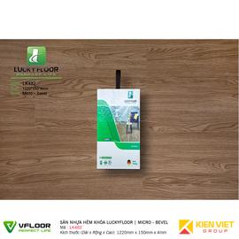 Sàn nhựa hèm khóa SPC Luckyfloor LK482 | 4mm