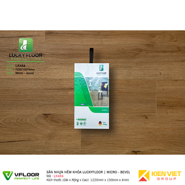 Sàn nhựa hèm khóa SPC Luckyfloor LK484   4mm