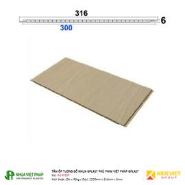 Tấm ốp tường gỗ nhựa Gplast phủ phim Việt Pháp Gplast W14F001 | 316x6mm