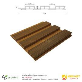 Tấm ốp trần tường Ecovina EW240T16 | 204x16mm