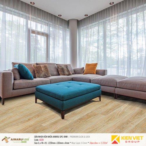 Sàn nhựa hèm khóa Aimaru SPC Premium 4220   4mm