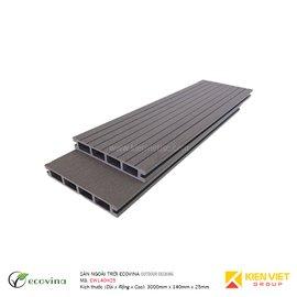 Sàn gỗ ngoài trời Ecovina EW140H25 | 140x25mm