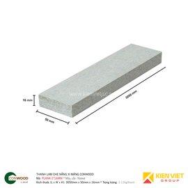 Thanh lam che nắng xi măng Conwood Plank 2″16mm | 50x16mm
