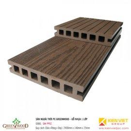 Sàn ngoài trời 1 lớp Greenwood | GW-PP02 140x25mm