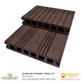 Sàn ngoài trời 1 lớp Greenwood | GW-PP02A 140x25mm