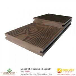 Sàn ngoài trời 1 lớp Greenwood | GW-PP03 140x22mm