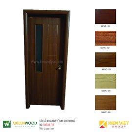 Cửa gỗ nhà vệ sinh Queenwood QW11W-710 cả pano và ô kính