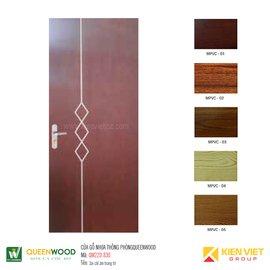 Cửa gỗ nhựa thông phòng Queenwood QW22D-830 Soi chỉ âm trang trí