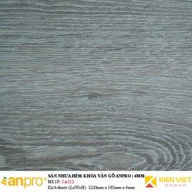 Sàn nhựa hèm khoá Anpro vân gỗ SA113 | 4mm