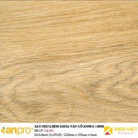 Sàn nhựa hèm khoá Anpro vân gỗ SA142   4mm