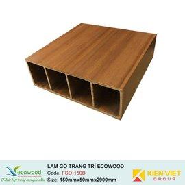 Lam gỗ trang trí Multipurpose Ecowood FSO-150B | 150x50mm