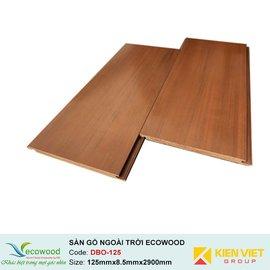 Sàn gỗ ngoài trời EcoWood DBO-125 | 125x8.5mm