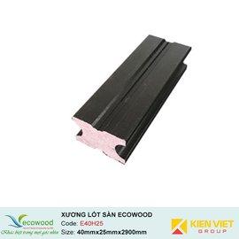 Xương lót sàn ngoài trời Ecowood E40H25 | 40x25mm