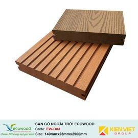 Sàn gỗ ngoài trời đặc EcoWood EW-D03 | 140x25mm